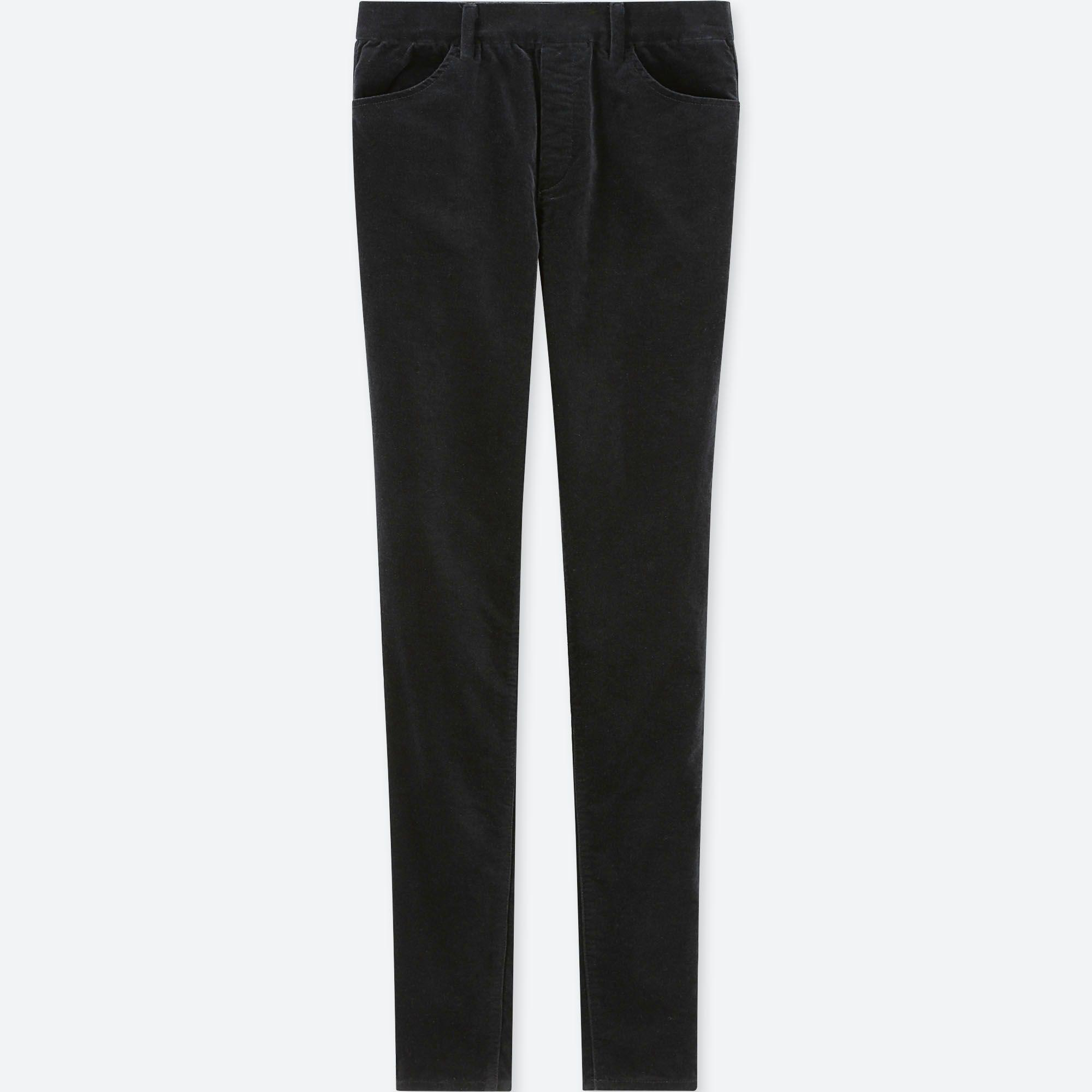 0c9d86fbfaccf0 Uniqlo Heattech Velvet High Rise LEGGINGS Trousers in Black - Lyst