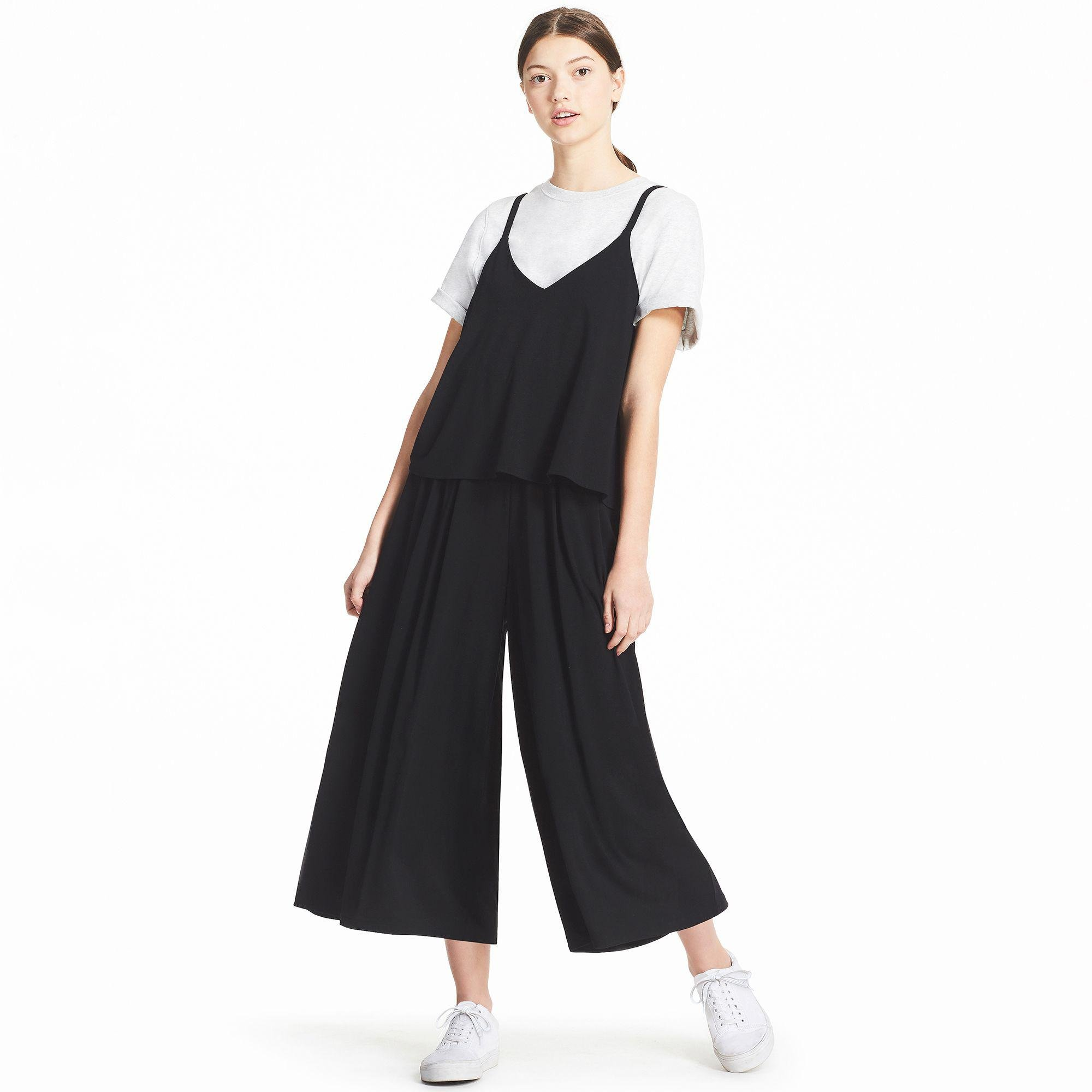 72ada57b695 Uniqlo Camisole Jumpsuit in Black - Lyst
