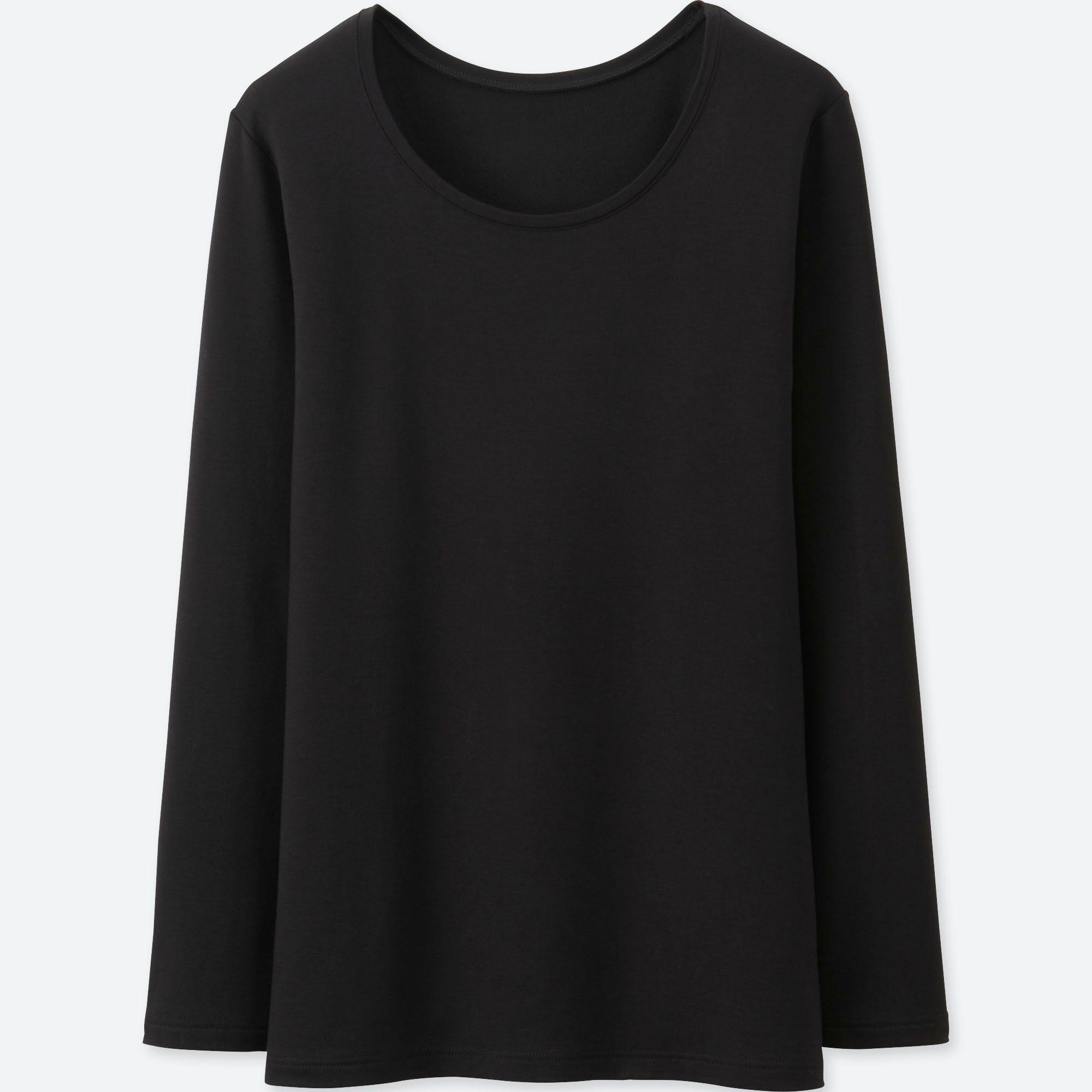 6621d878c65d Uniqlo Heattech Extra Warm Crew Neck Long Sleeved T-shirt in Black ...