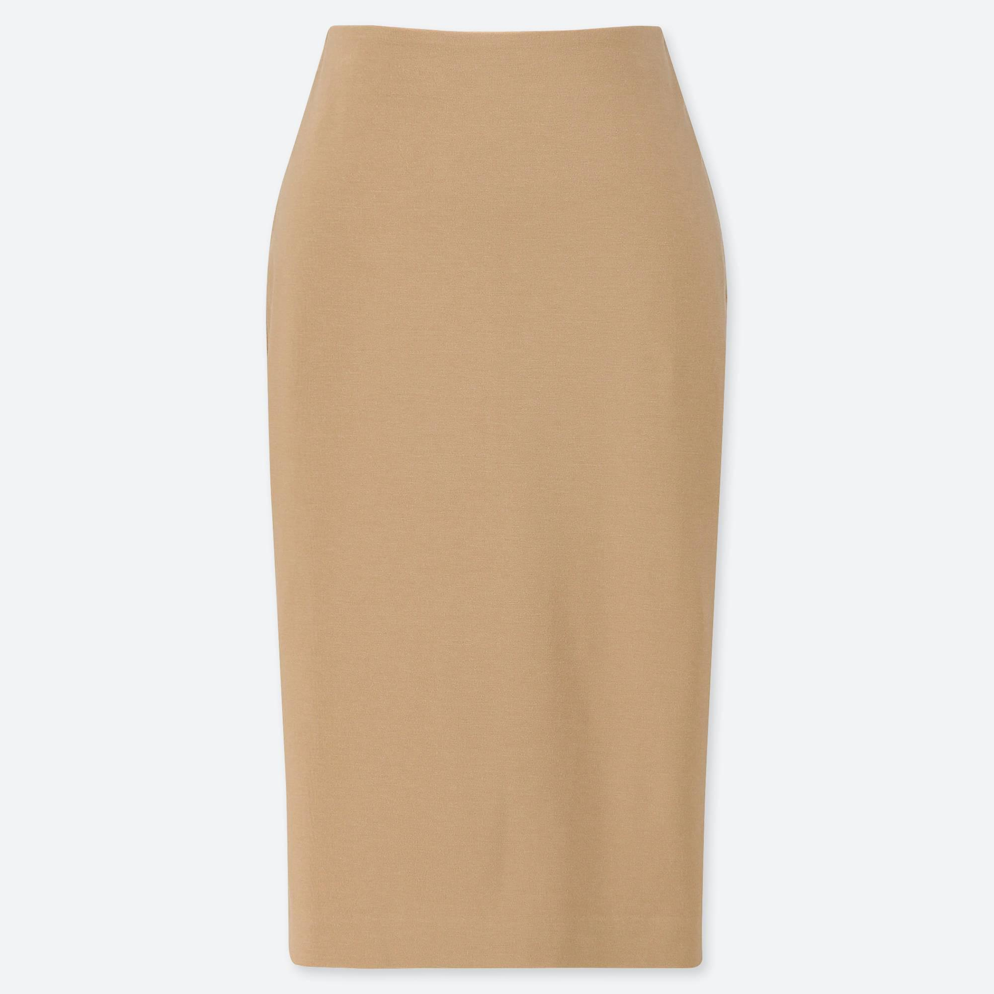 1624bc975c Lyst - Uniqlo Women Ponte Pencil Skirt in Natural