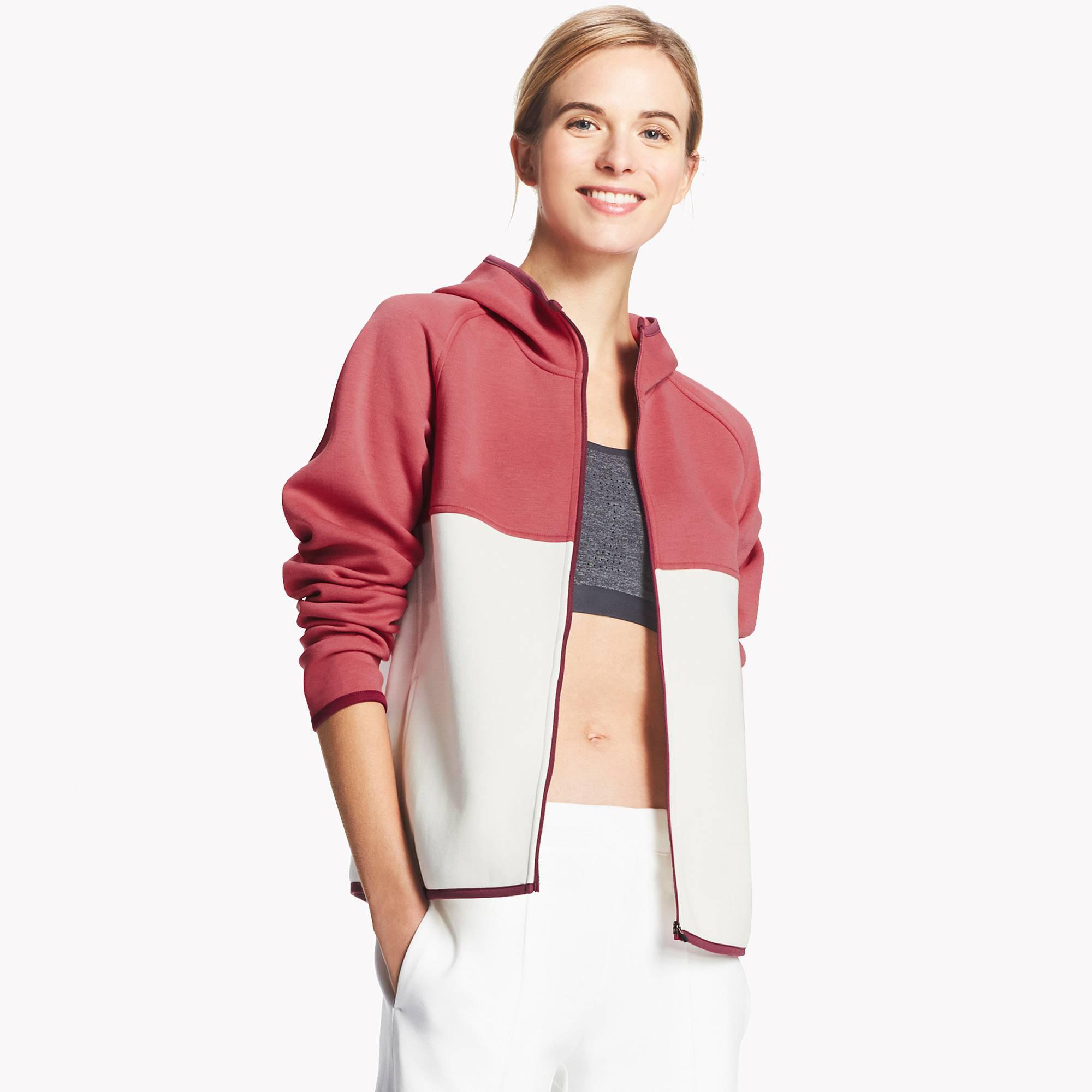 4f40606552 Lyst - Uniqlo Women Dry Sweat Long-sleeve Full-zip Hoodie in Red