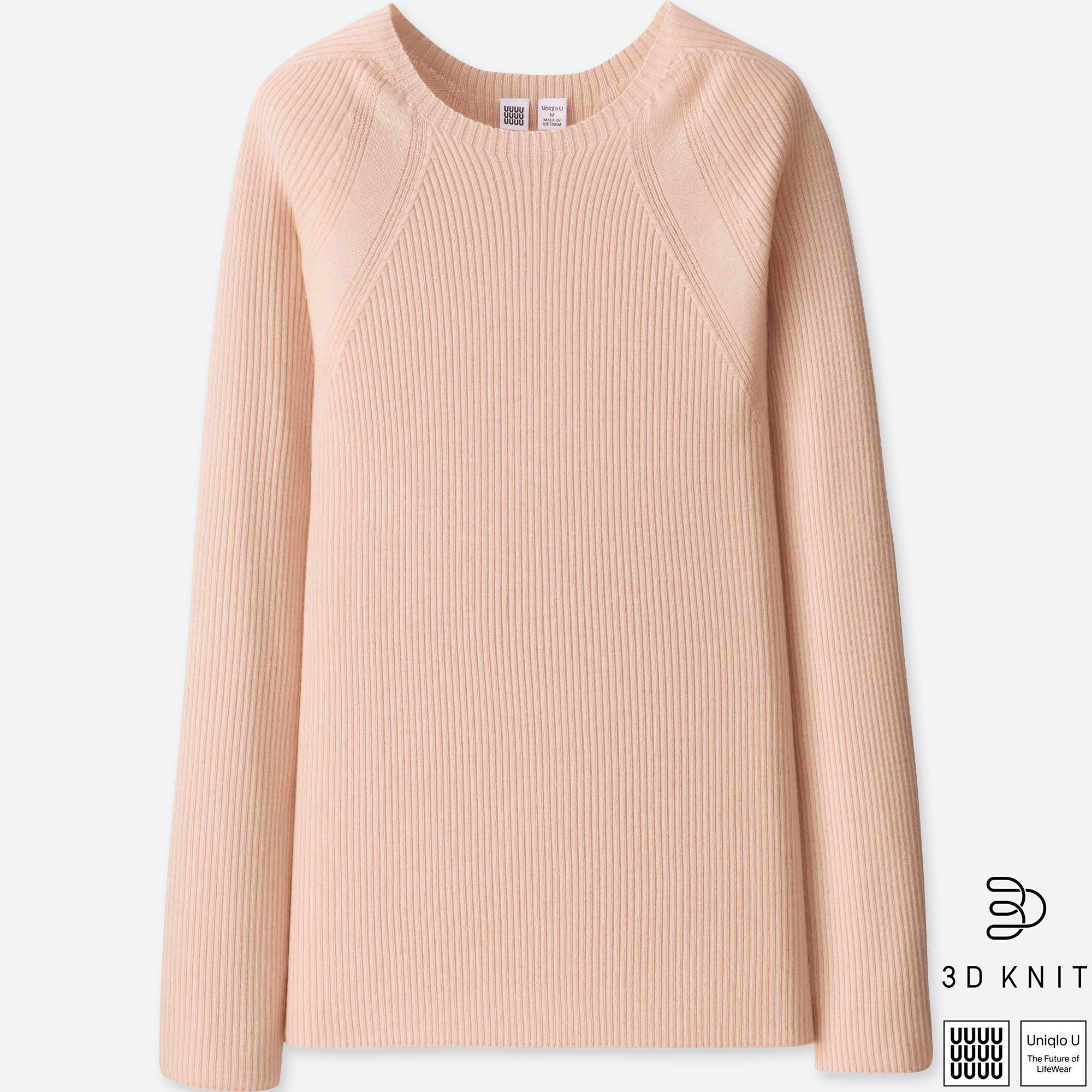 c2b27ec9b9c Lyst - Uniqlo Women U 3d Extra Fine Merino Ribbed Sweater
