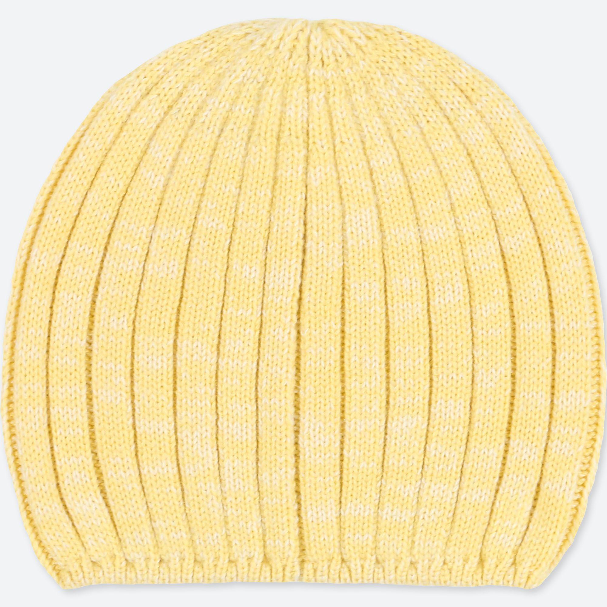 0440497b04b Uniqlo Women Heattech Knitted Beanie in Yellow - Lyst