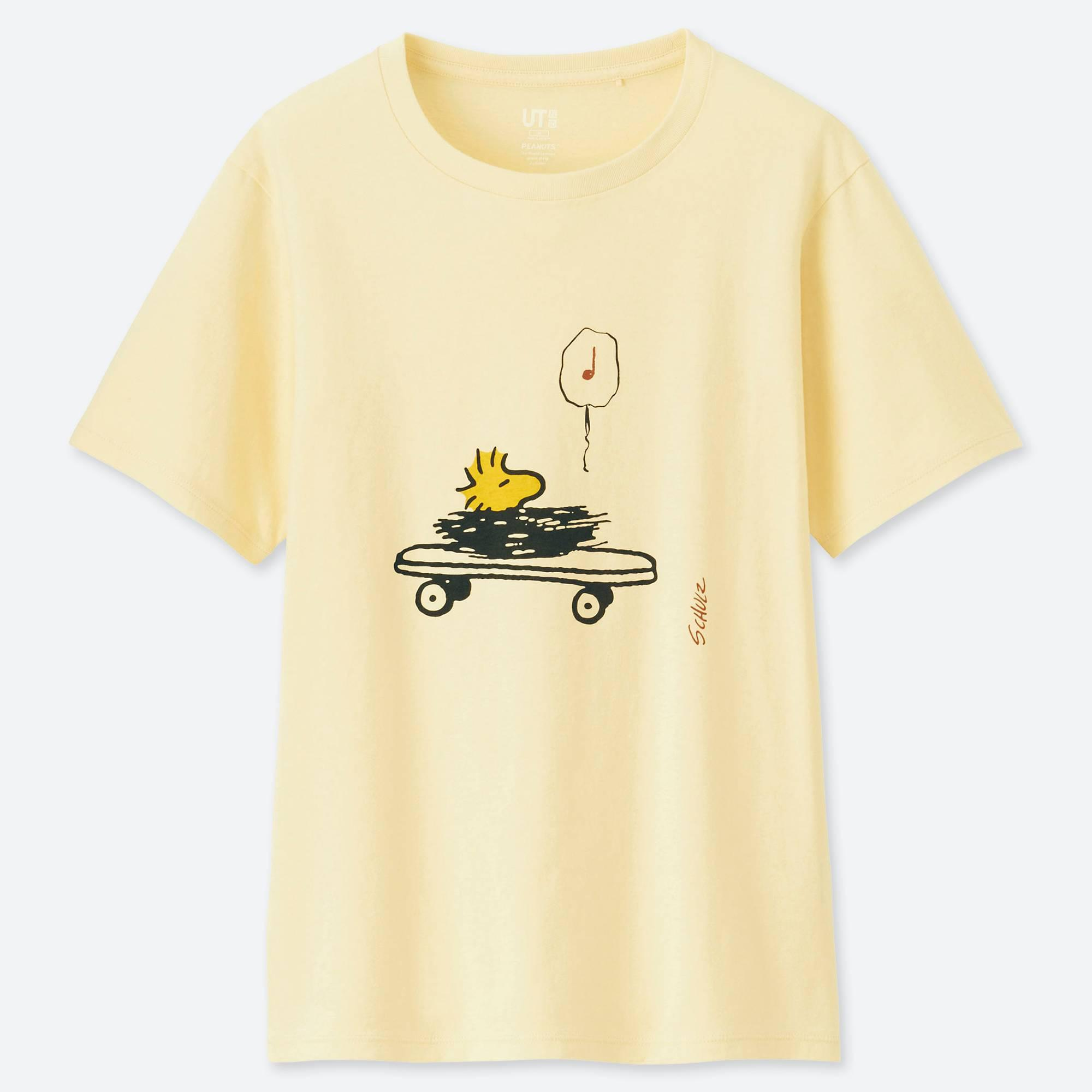 daff068a253e9 Lyst - Uniqlo Women Peanuts Short-sleeve Graphic T-shirt in Yellow