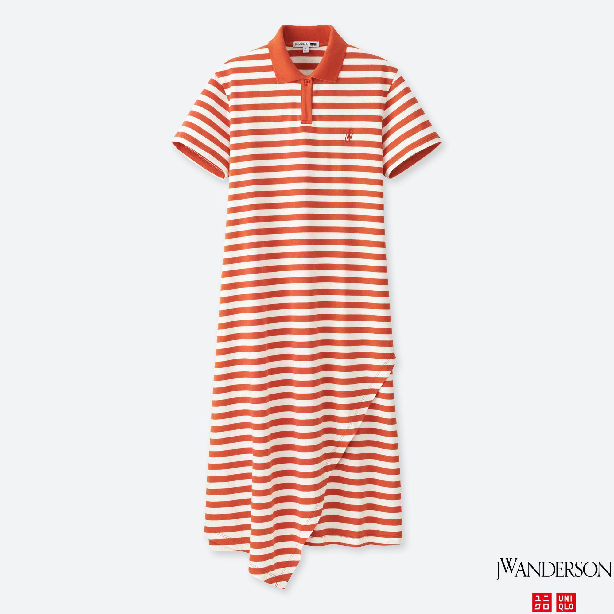ac63a75e67 Uniqlo Women Jwa Polo Ruffle Dress in Orange - Lyst