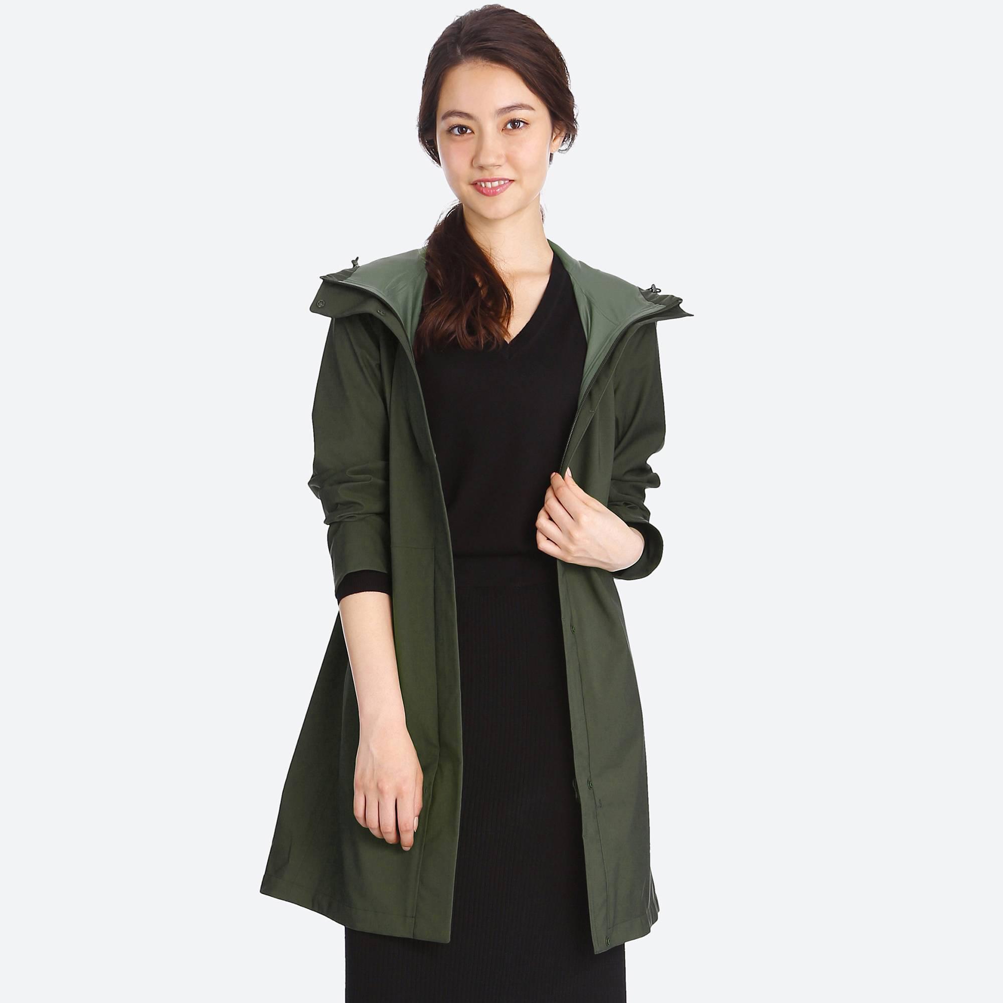6418f5d866750 Lyst - Uniqlo Women Blocktech Coat in Green