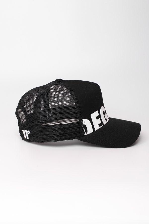 Lyst - 11 Degrees Degrees Logo Trucker Cap in Black for Men cb9a060d9d2c