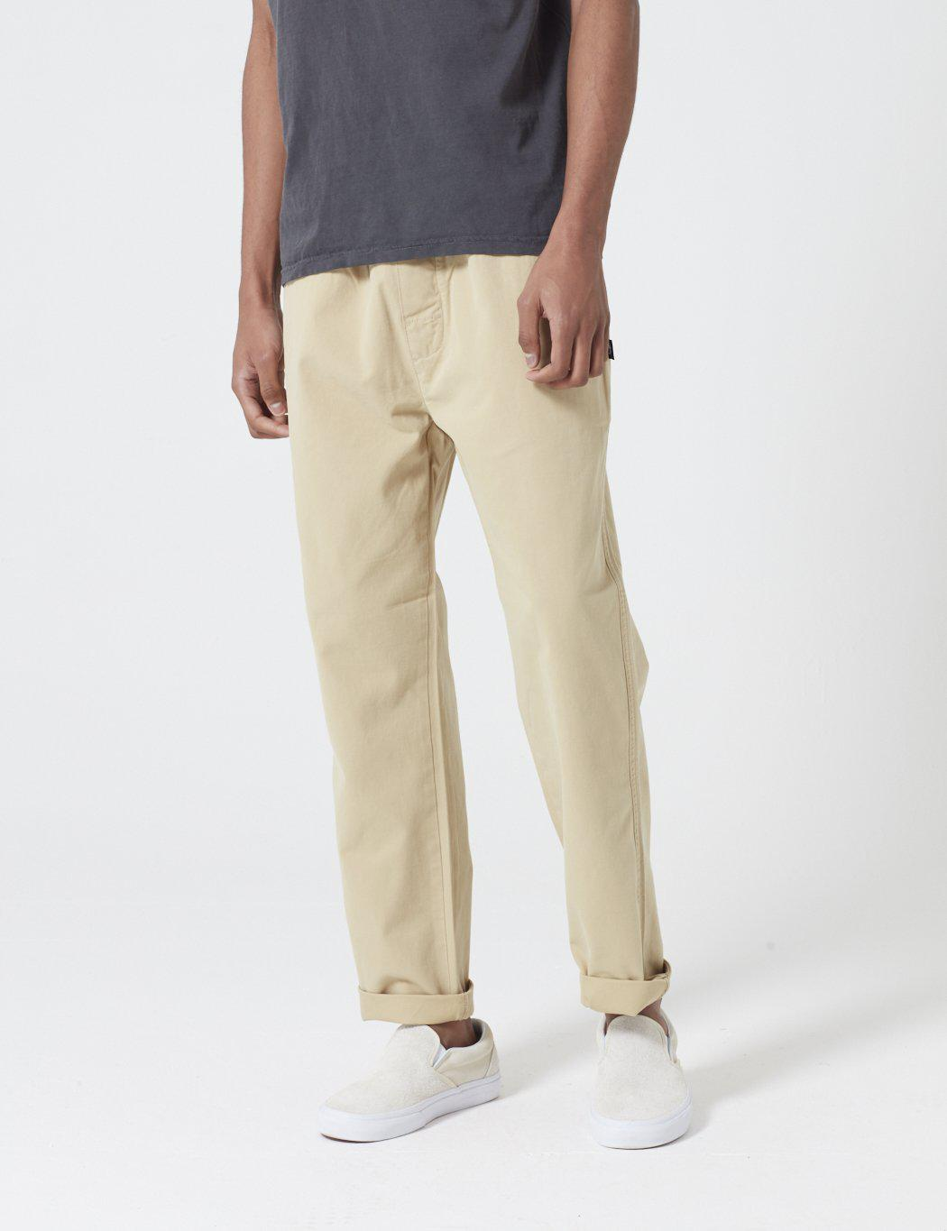 098ecf14895 Stussy Brushed Beach Pant in Natural for Men - Lyst