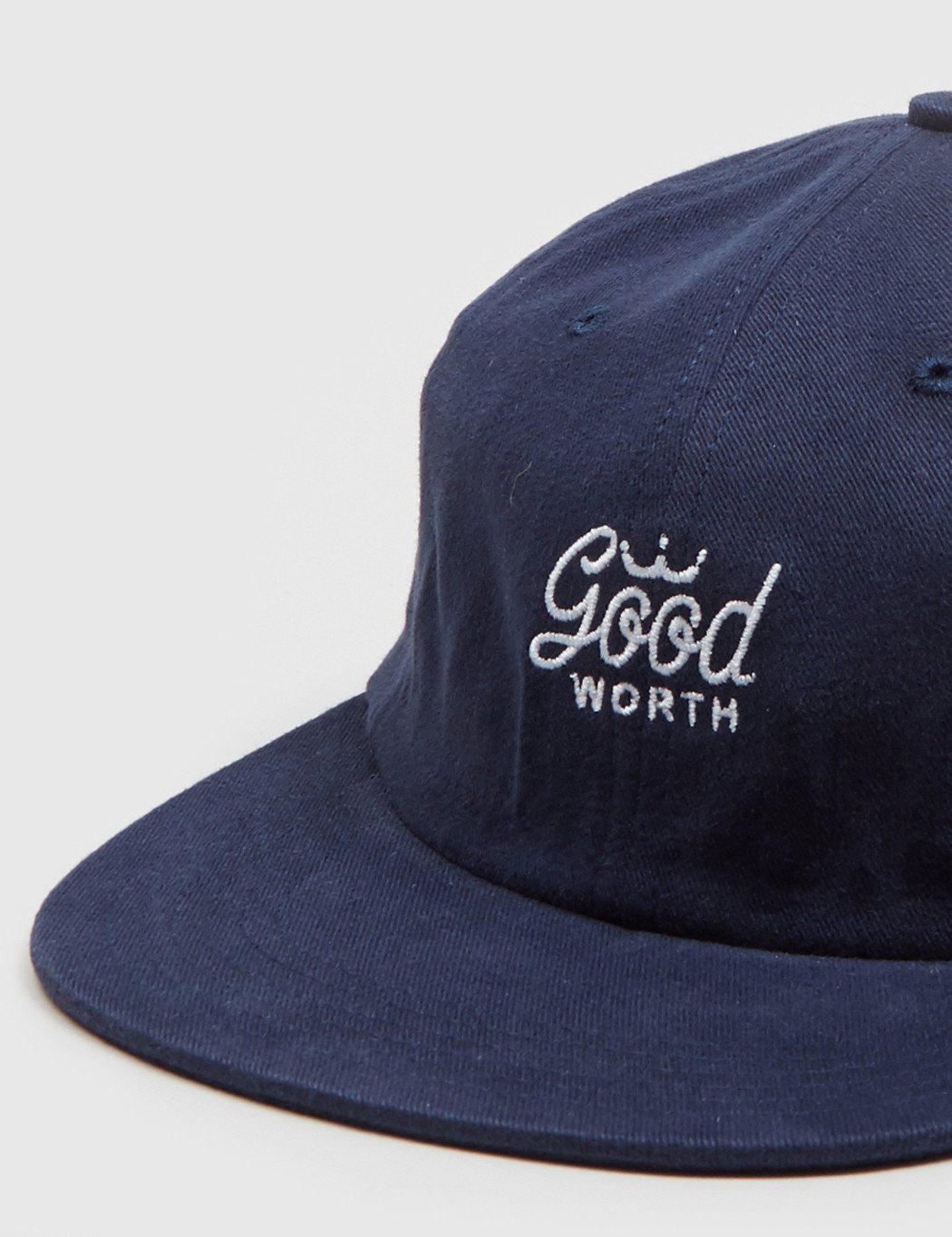 Good Worth Crown 6-panel Cap in Blue for Men - Lyst d6f897ec20fe