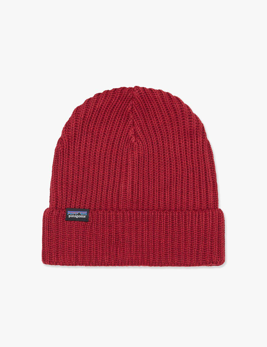 3bfd62c5 Patagonia - Red Fisherman's Rolled Beanie Hat for Men - Lyst. View  fullscreen