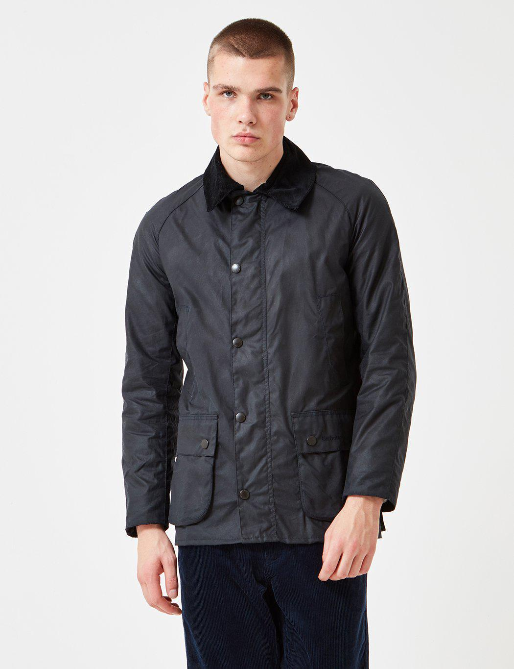 Lyst Barbour Ashby Wax Jacket In Blue For Men