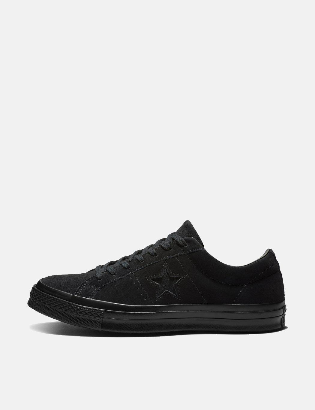 58f9cb38ea3 Lyst - Converse One Star Ox Suede Sneakers in Black for Men - Save 77%