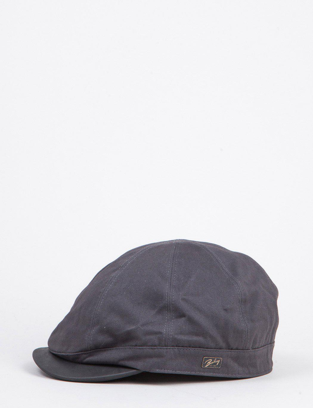 124c2b8d Bailey of Hollywood Bailey Rodis Leather Peak Flat Cap in Gray for ...