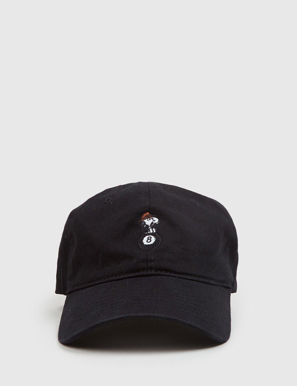 b9412d7da28 Lyst - Huf X Peanuts Spike 8 Ball Curved Peak Cap in Black for Men