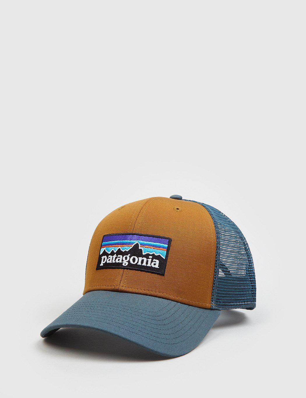 Lyst - Patagonia P-6 Logo Trucker Hat in Blue for Men 9e4ce4a1d73