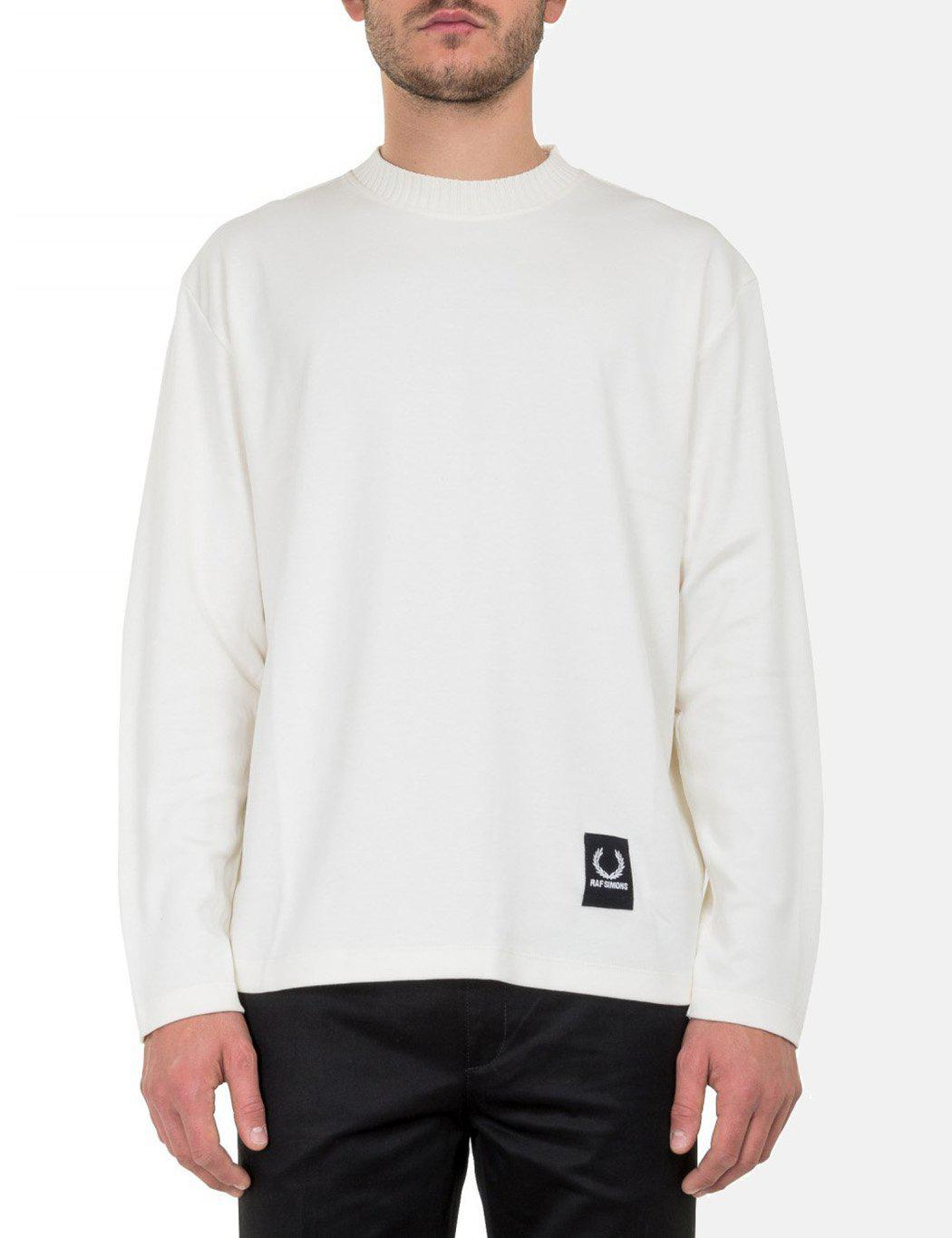 9d02ecea Fred Perry X Raf Simons Jersey Long Sleeve T-shirt in White for Men ...