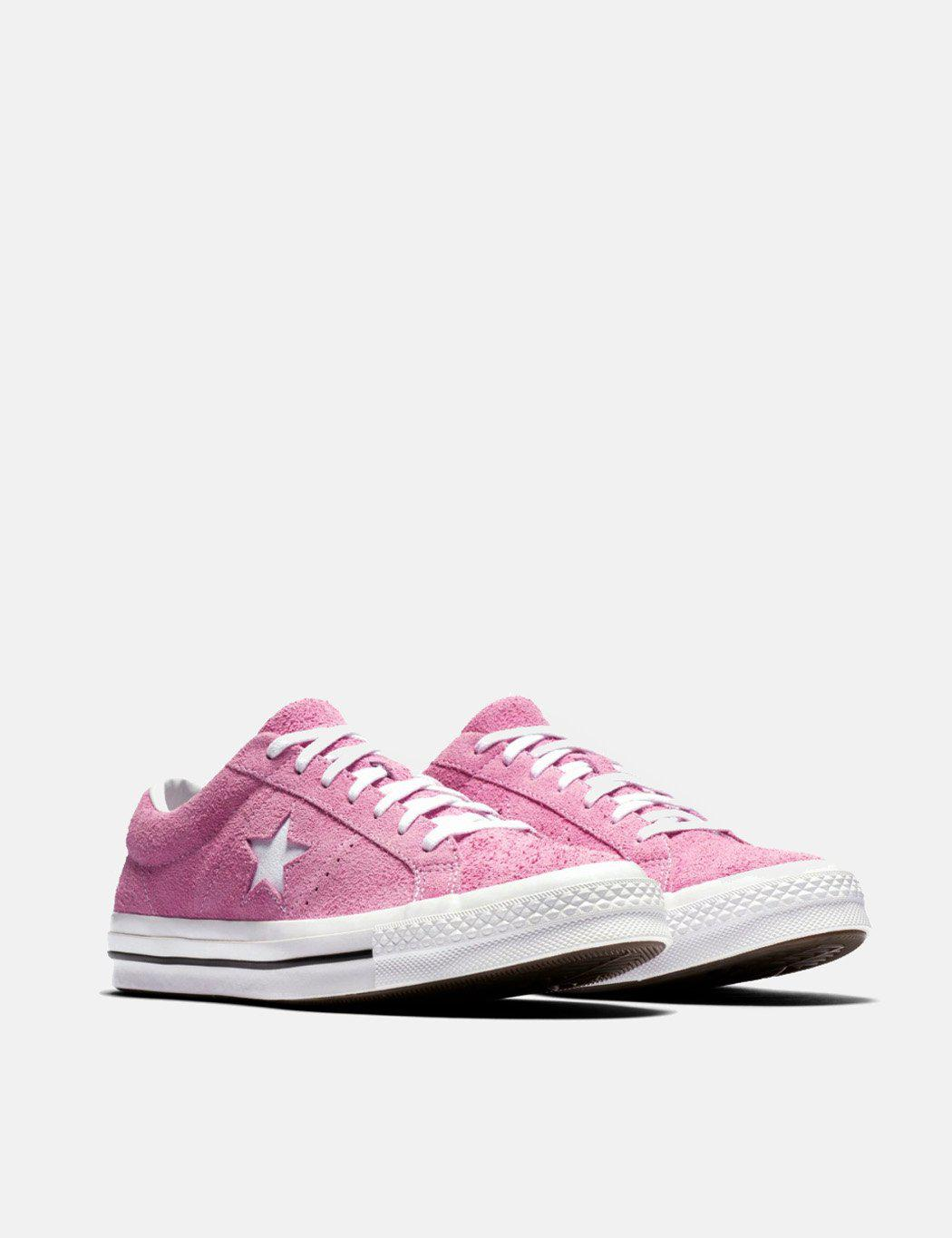 25a977348085 ... reduced lyst converse one star ox low suede 159492c in pink for men  69353 1cb1f