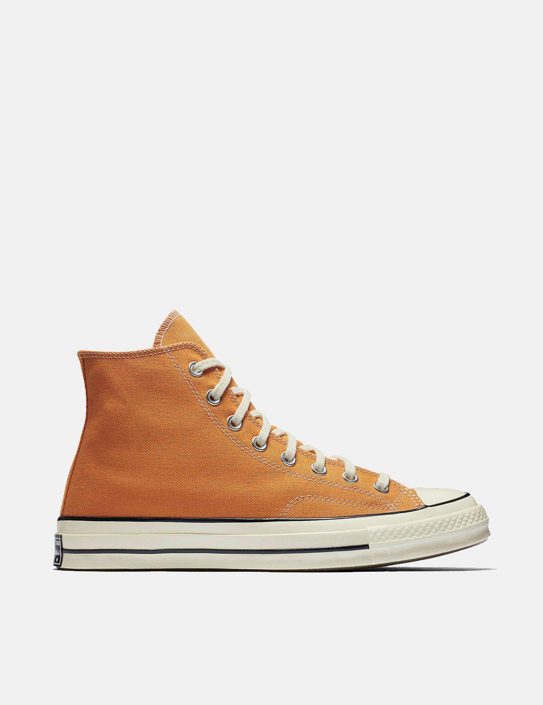 49af487698bc Converse 70 s Chuck Hi 159622c (canvas) in Orange for Men - Lyst
