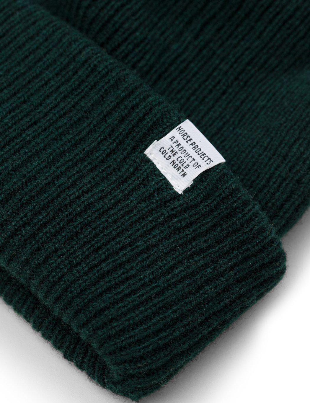 ad1c22d709e Norse Projects Norse Beanie Hat in Green for Men - Lyst