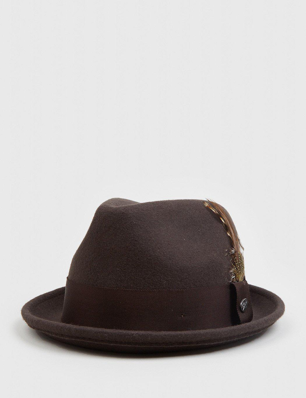 17fa35b211e42 Lyst - Bailey of Hollywood Bailey Tino Felt Crushable Trilby Hat in ...