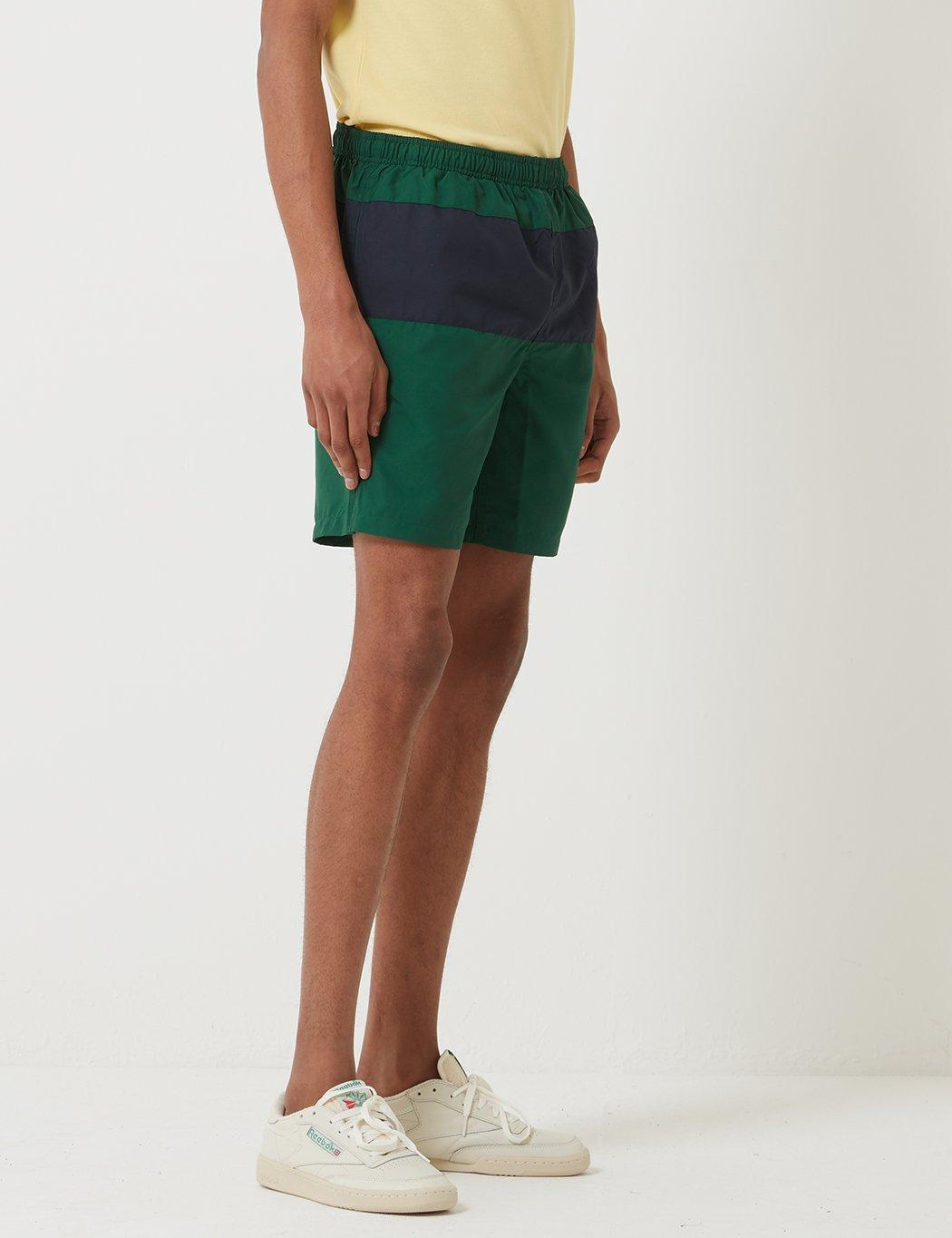 99062646bd Lyst - Fred Perry Panelled Swim Short in Green for Men