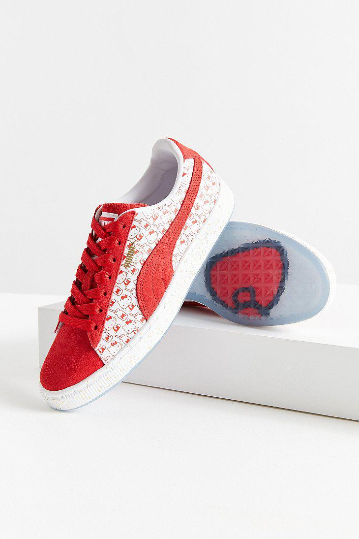4aac55f624f Lyst - PUMA Puma X Hello Kitty Suede Classic Sneaker in Red