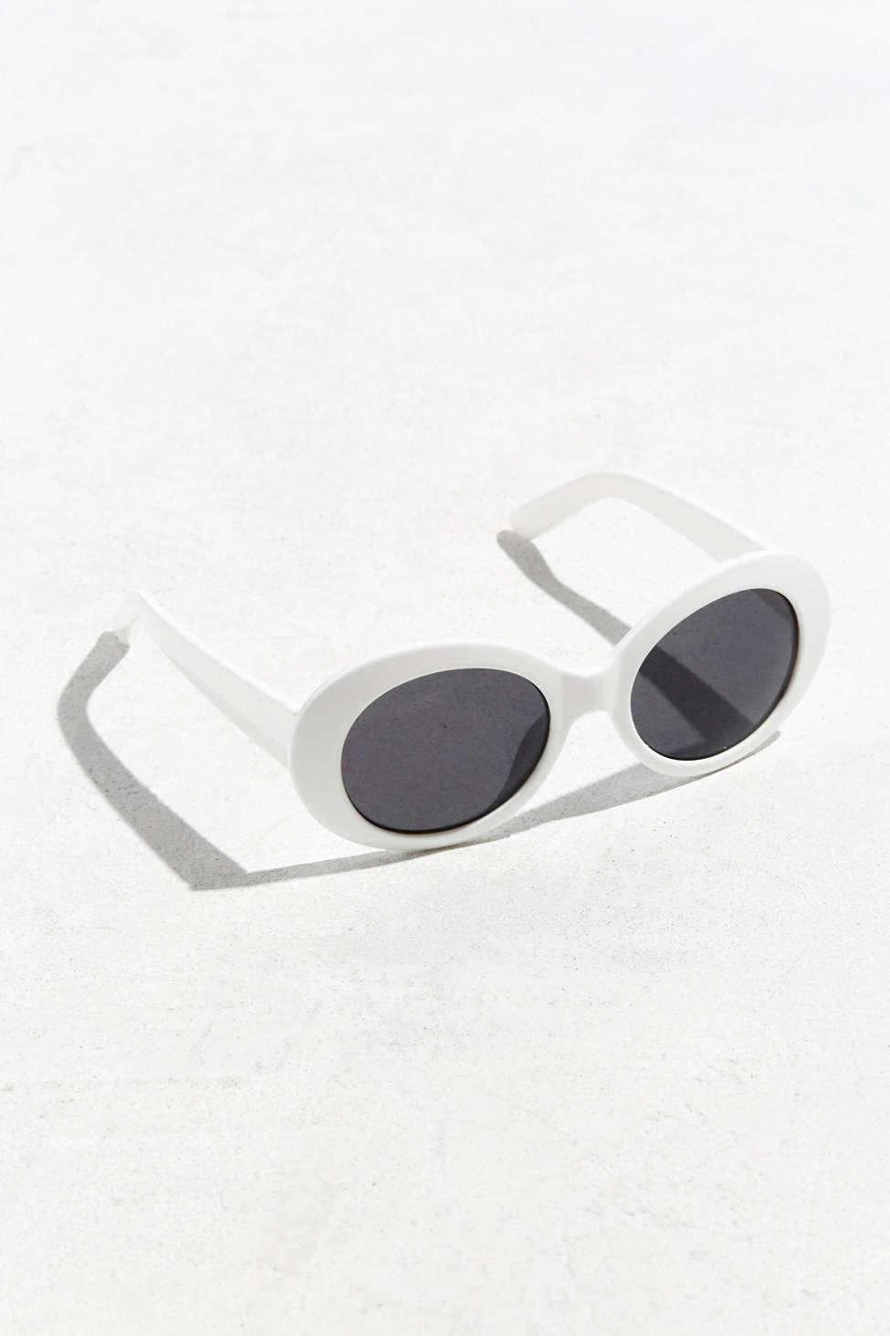 19a4d42efe Urban Outfitters Plastic Oval Sunglasses in White for Men - Lyst