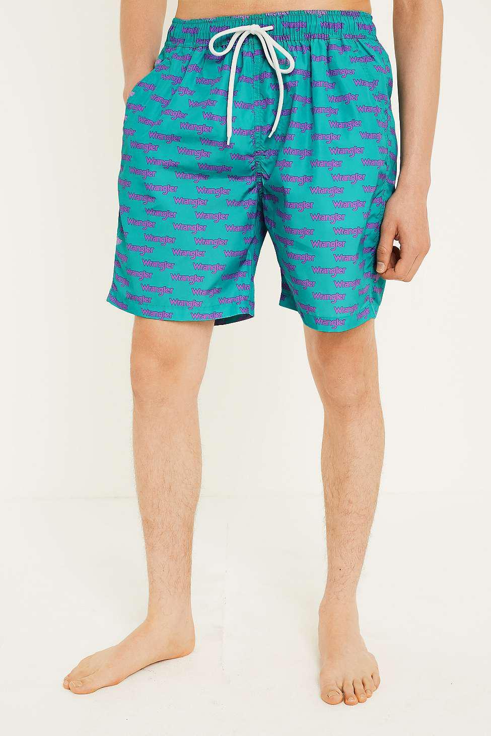 e147dab728e13 Wrangler '80s Swim Shorts - Mens L in Blue for Men - Lyst