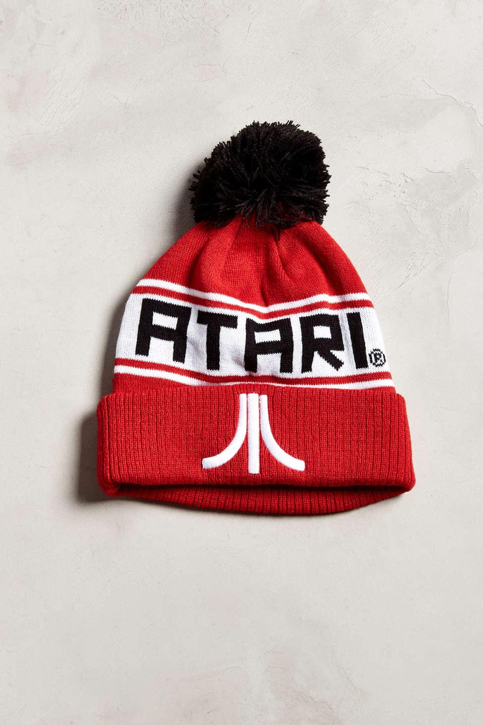 8ad8bee33 Urban Outfitters Atari Pompom Beanie in Red - Lyst