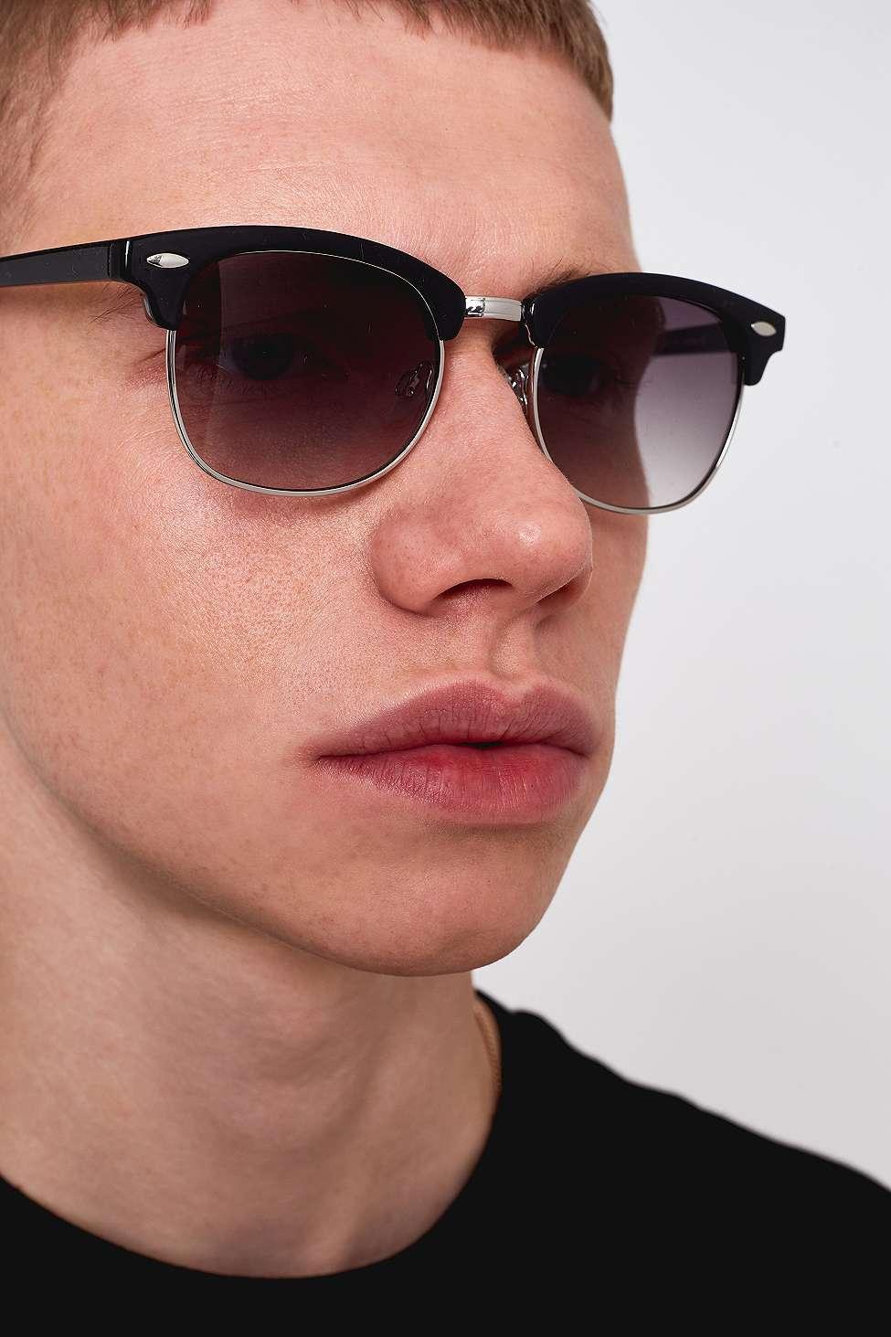 f1e52fab4e095 Urban Outfitters Uo Club Black Sunglasses - Mens All in Black for ...