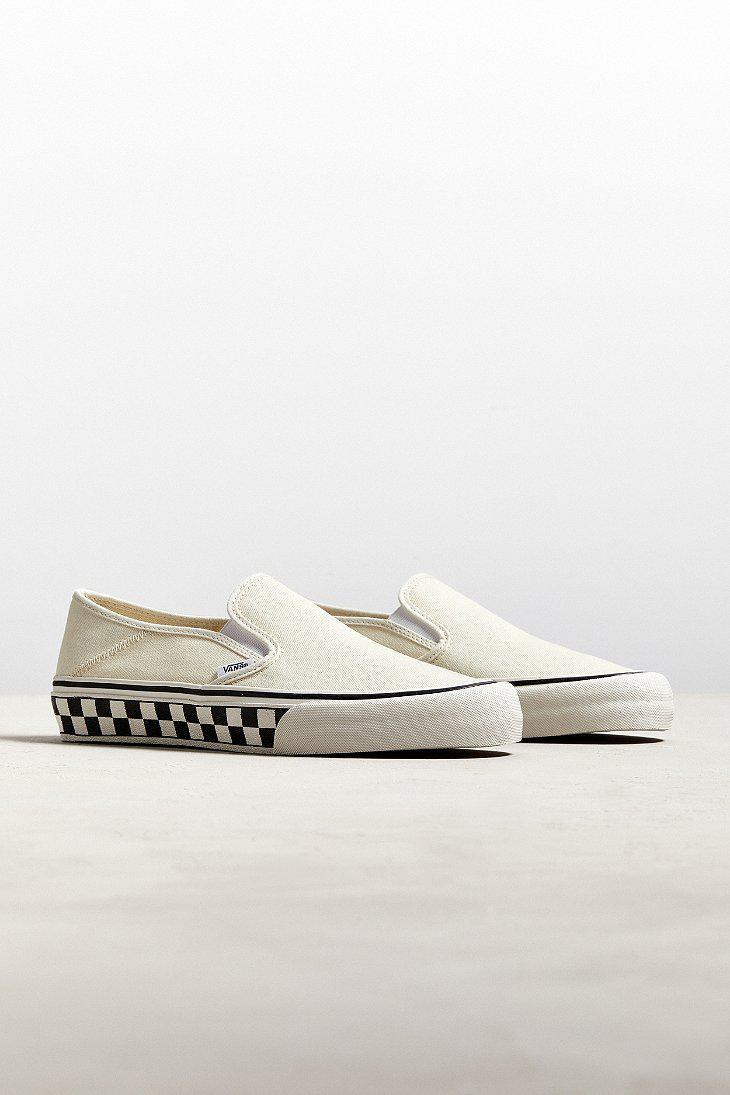 aac8031e38 Lyst - Vans Vans Slip-on Sf Checkerboard Sneaker in White for Men