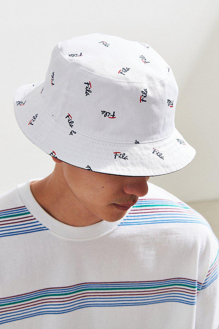 3432d9ca Fila Fila Reversible Bucket Hat in Blue for Men - Lyst