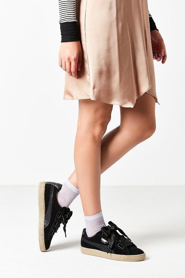 cb873e8607b07d Lyst - PUMA Basket Heart Metallic Safari Sneaker in Black