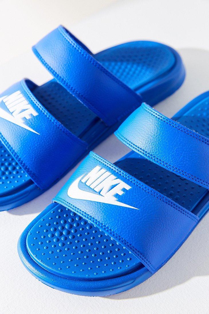 79dadaaaa620 Lyst - Nike Benassi Duo Ultra Slide in Blue