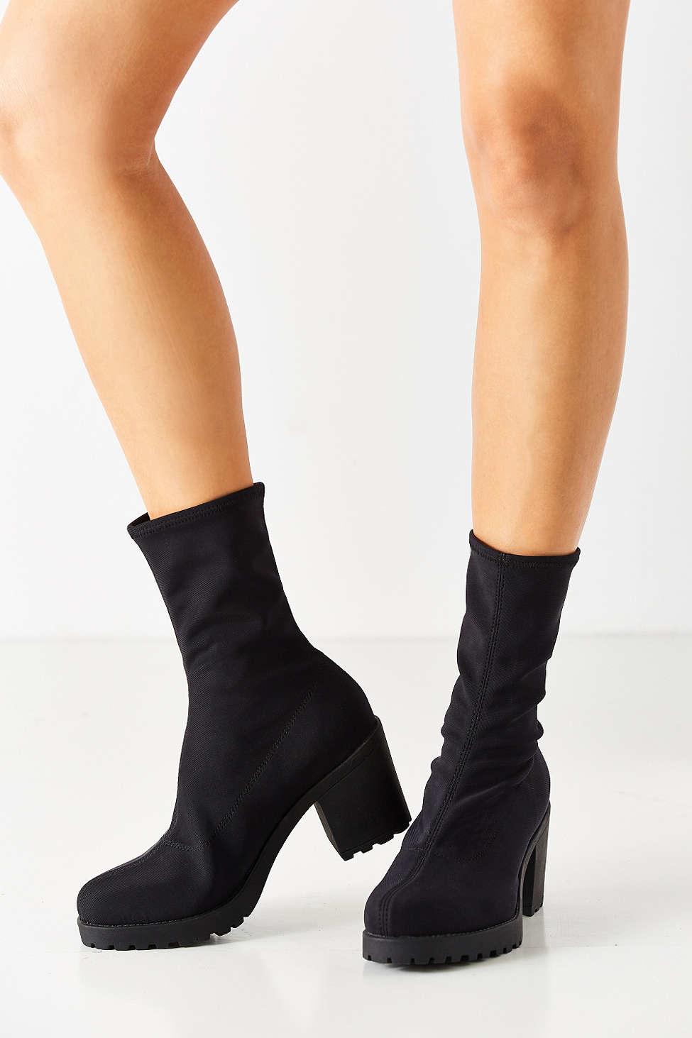 Lyst Vagabond Stretch Grace Boot In Black