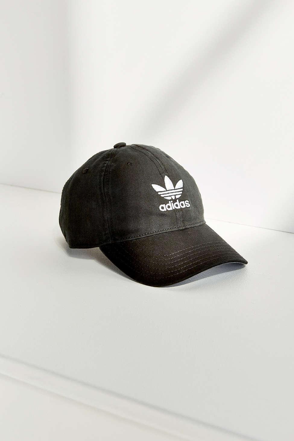 adidas originals originals washed baseball hat in black lyst