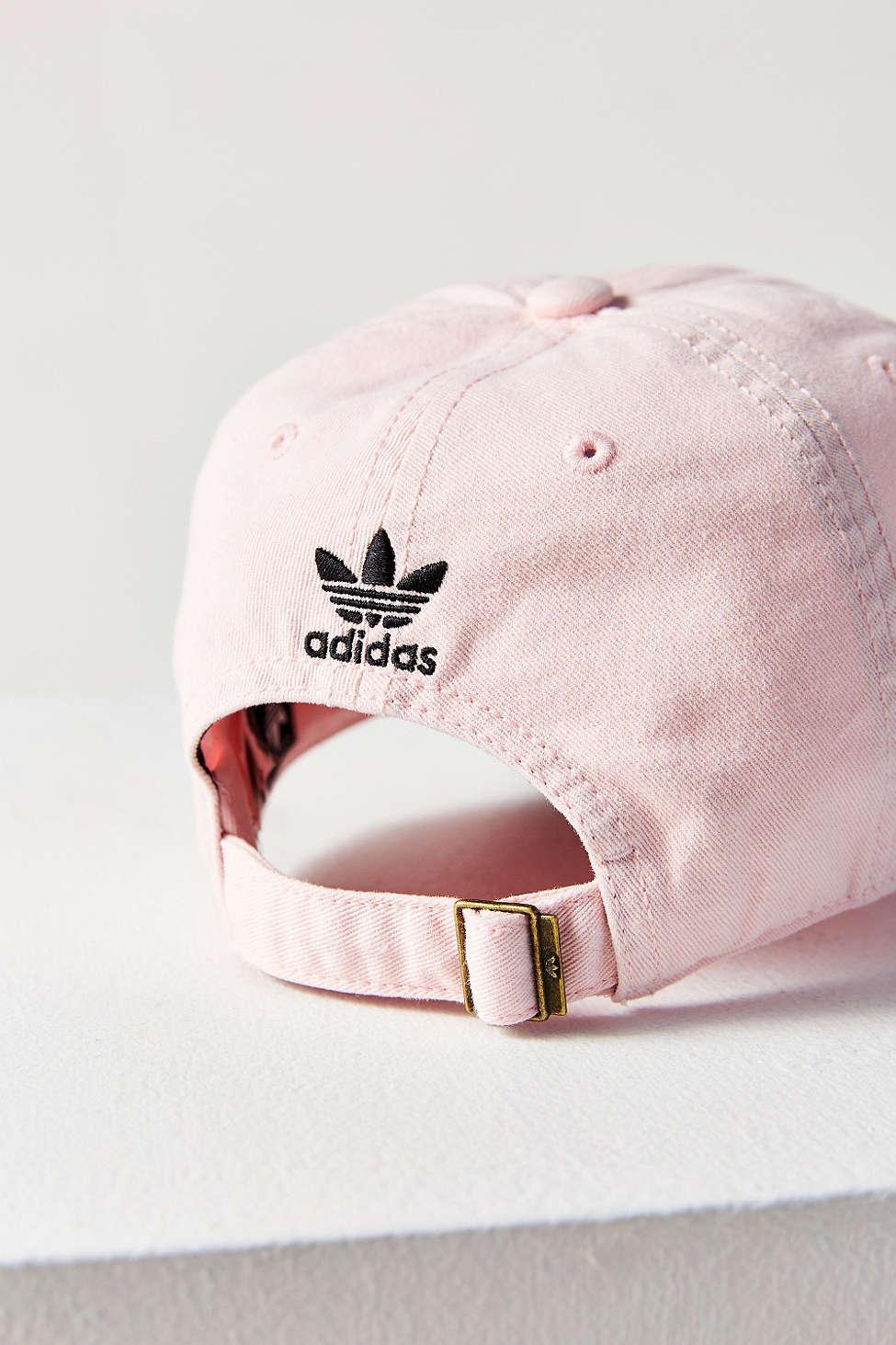 68f9a28e adidas Originals Originals Washed Baseball Hat in Pink - Lyst