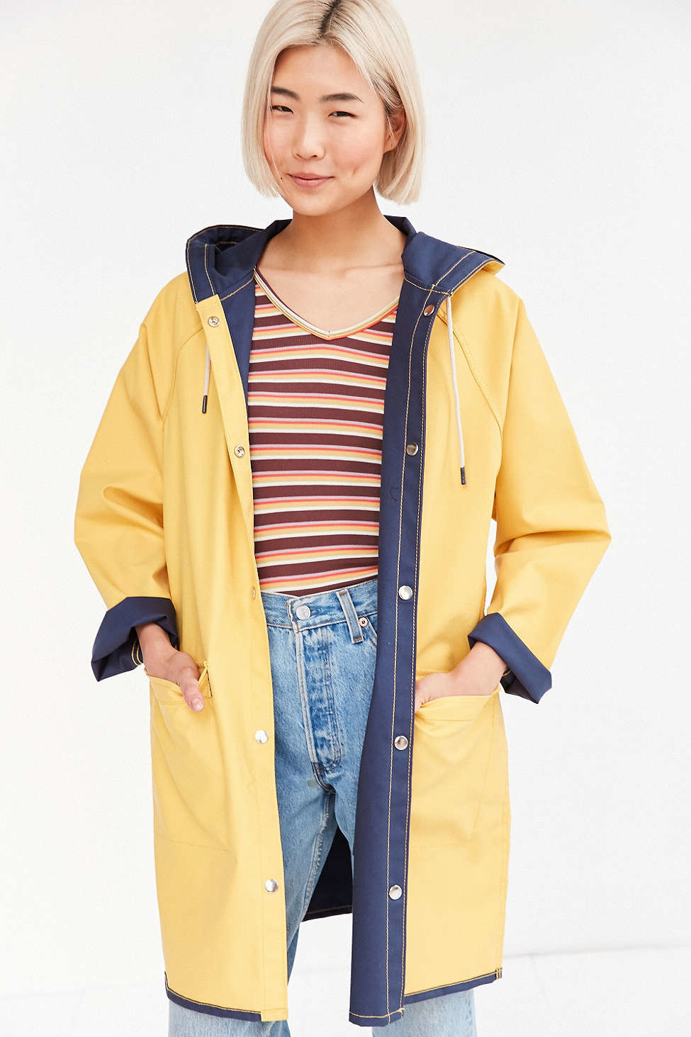 Bdg Reversible Fisherman Raincoat in Blue | Lyst