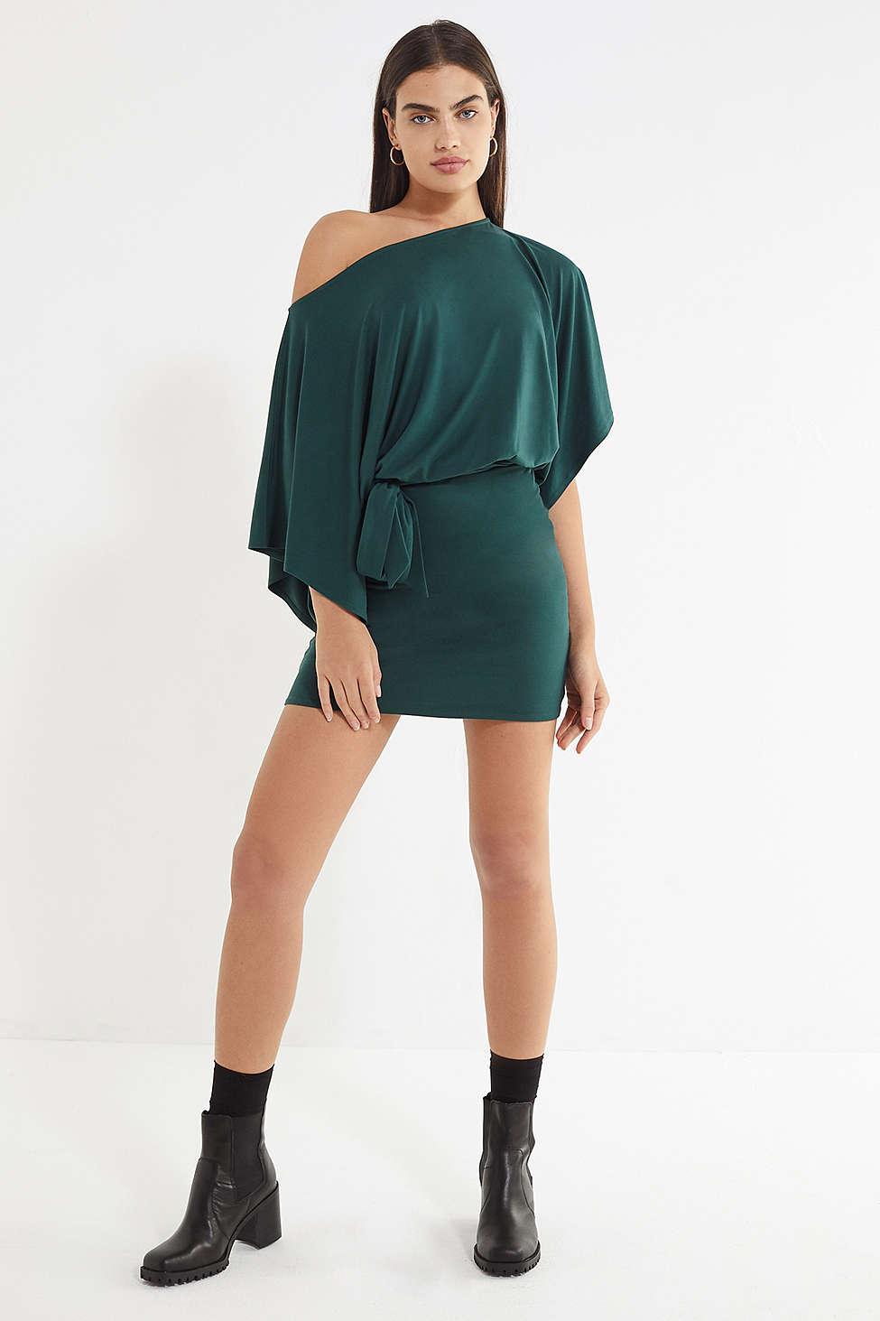 73fe4bff38 Lyst - Urban Outfitters Uo Sonya Tie-waist Blouson Dress in Green