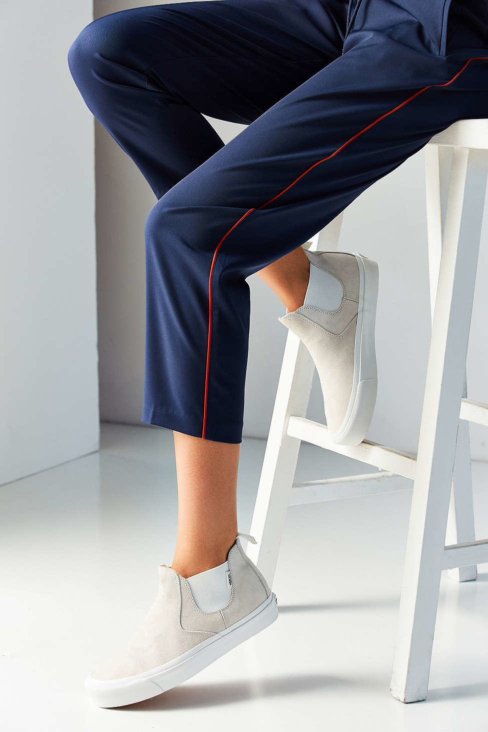 1d935e8285 Lyst - Vans Scotchgard Slip-on Mid Dx Sneaker in White