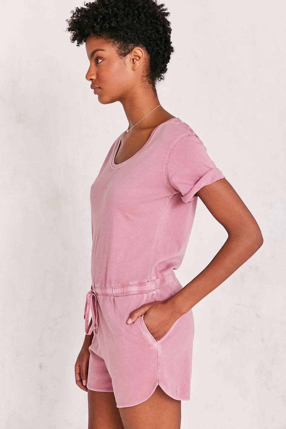 bff01413177e BDG Cuffed Knit T-shirt Playsuit - Womens S in Purple - Lyst