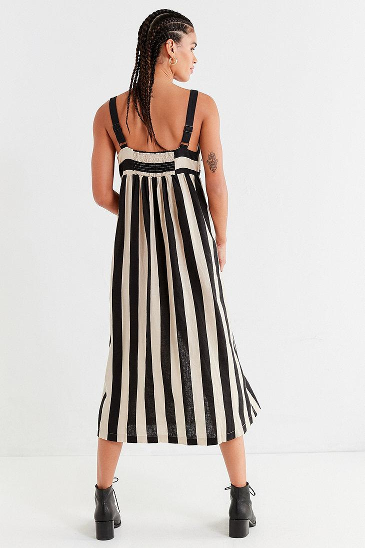 ea33f8a4fe Urban Outfitters Uo Deena Striped Linen Button-down Midi Dress in ...
