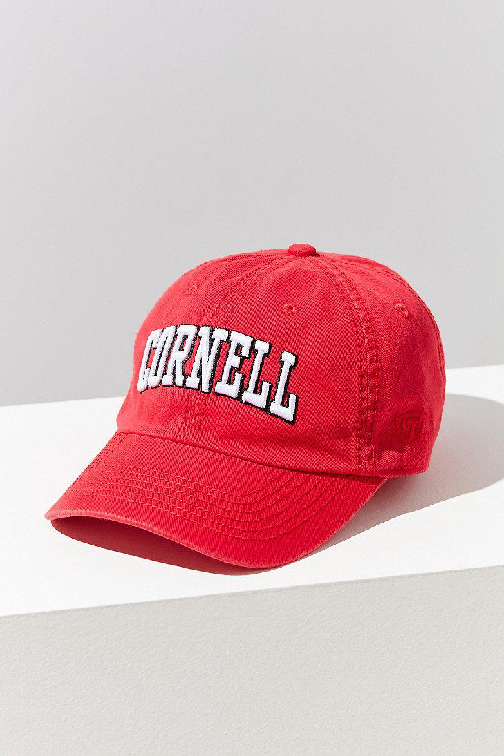 Lyst - Urban Outfitters Cornell Crew Baseball Hat in Red 76c6eb8cc82