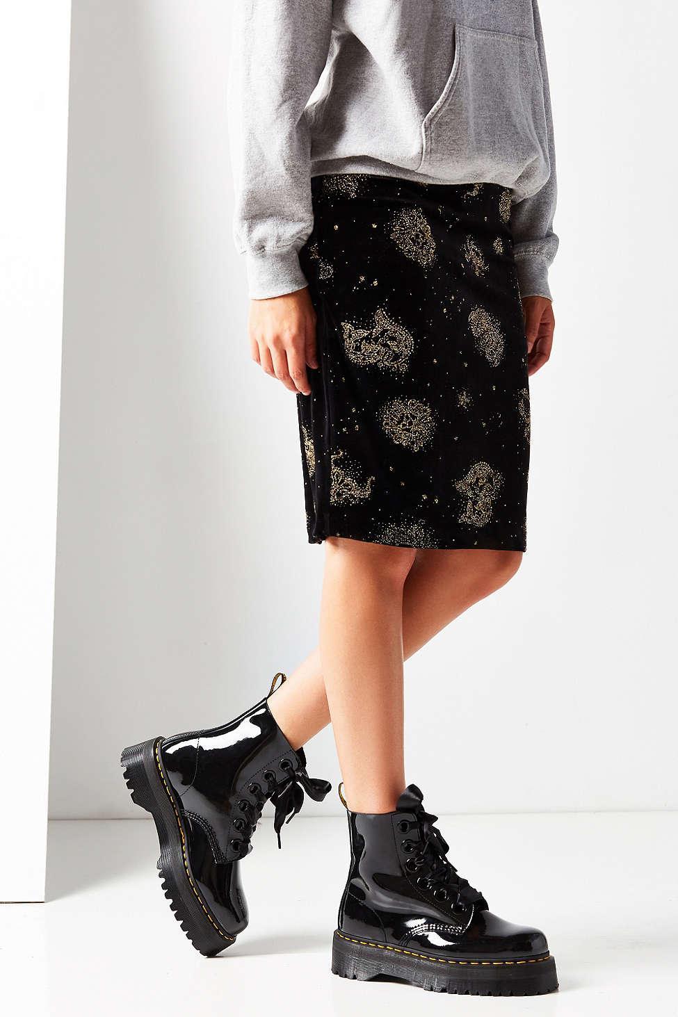 Lyst Dr Martens Molly Platform Boot In Black