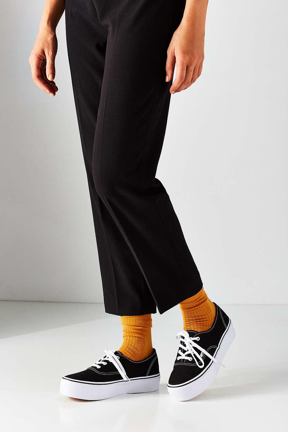 vans authentic platform sneaker in black lyst