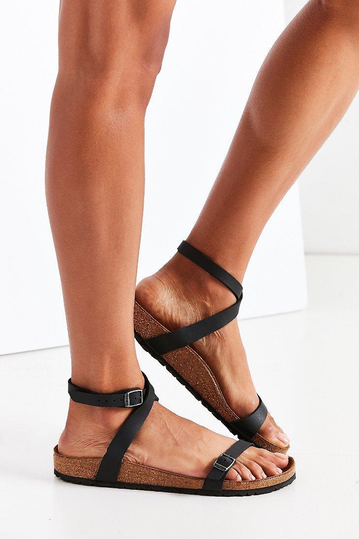 6c39b2f8bbd Lyst - Birkenstock Daloa Sandal in Black - Save 1%