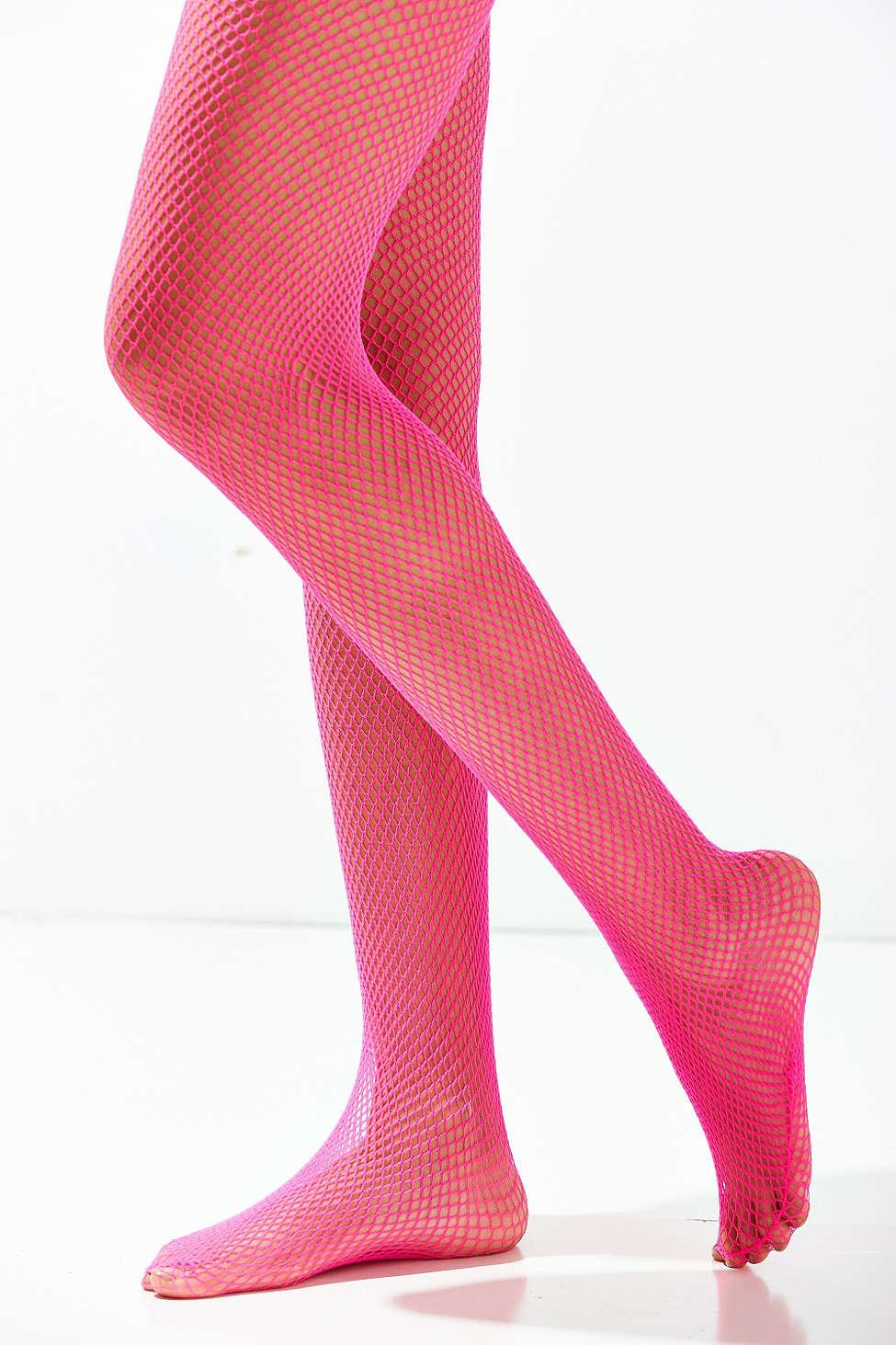 6525bb072102b Lyst - Urban Outfitters Fishnet Tight in Pink