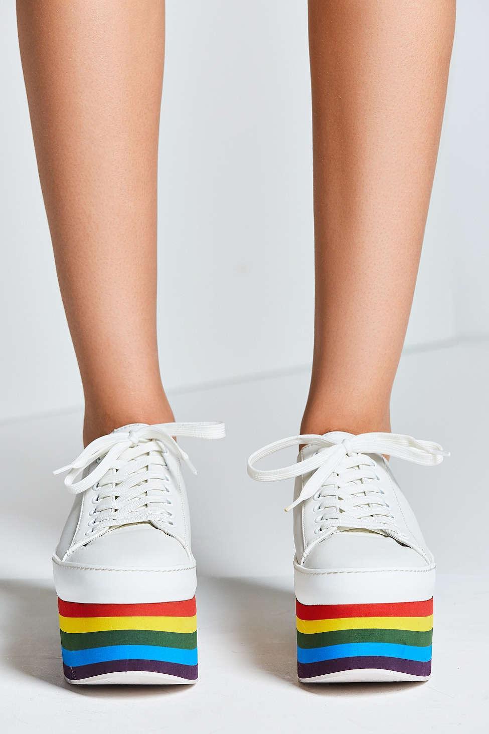 c22a3f19b5b Lyst - Jeffrey Campbell Rainbow Platform Sneaker