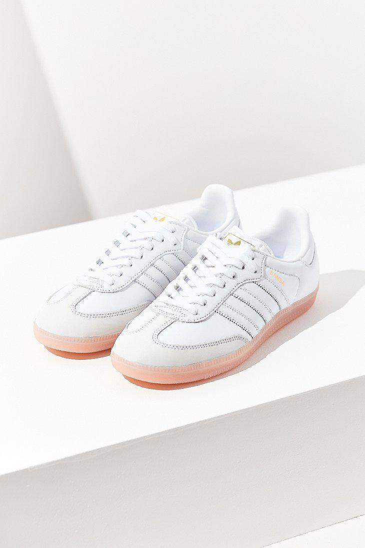 0b182848489 adidas Originals Originals Samba Pink Sole Sneaker in White - Lyst