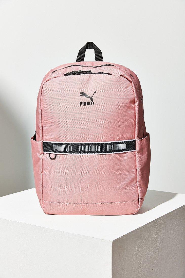 3bc6879f11de Lyst - PUMA Linear Backpack in Pink